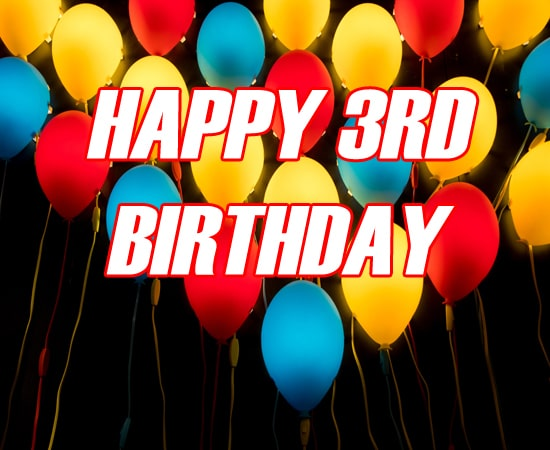 Ballon Happy 3Rd Birthday Image