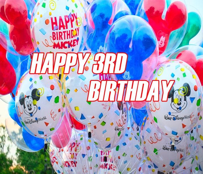 Ballon Happy 3Rd Birthday Photos