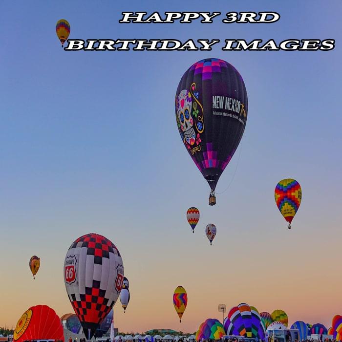 Ballon Happy 3Rd Birthday Pics
