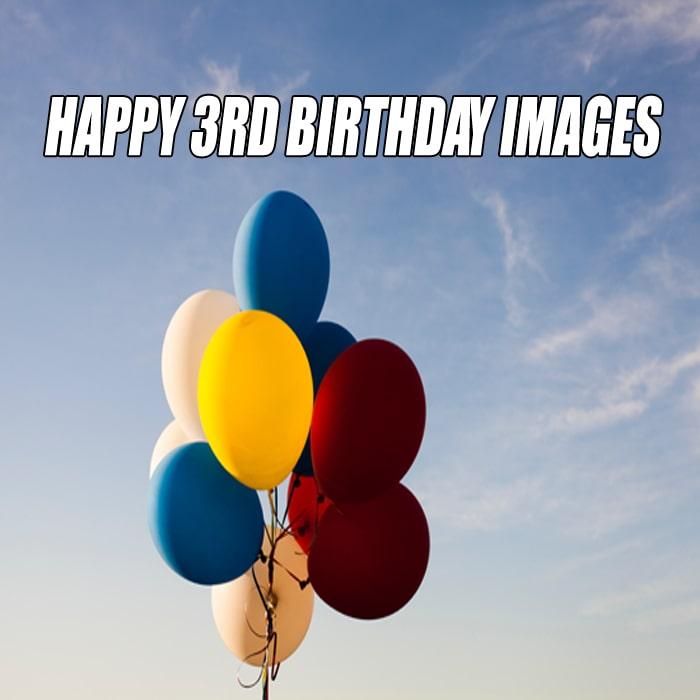 Ballon Happy 3Rd Birthday Wallpaper