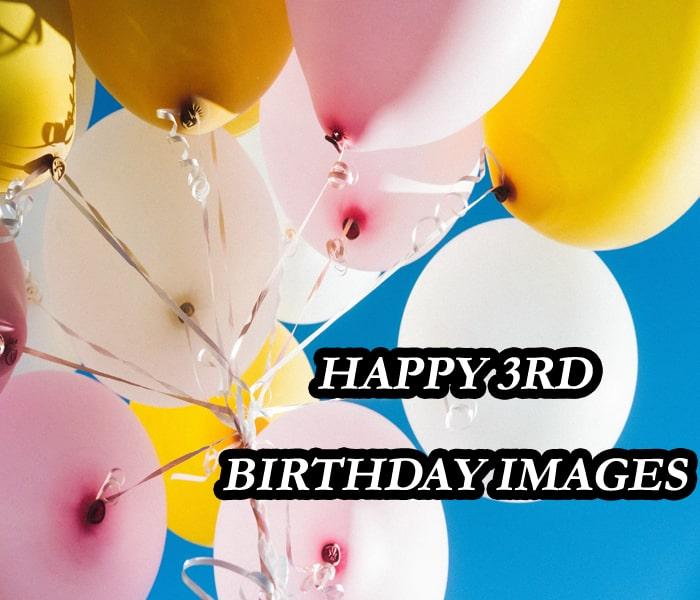 Ballon Happy 3Rd Birthday photo
