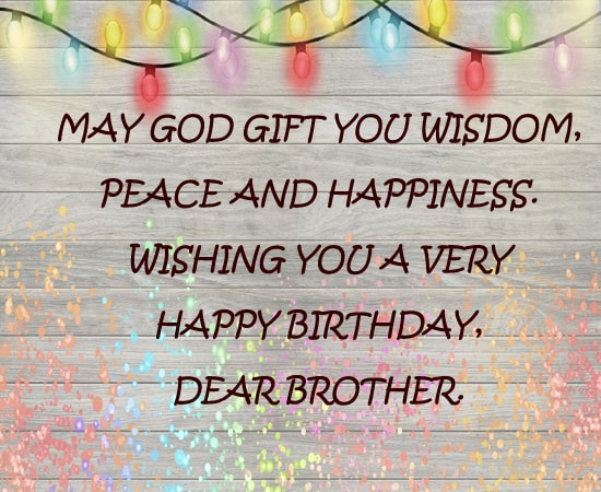 Birthday Wishes for Brother Free Download
