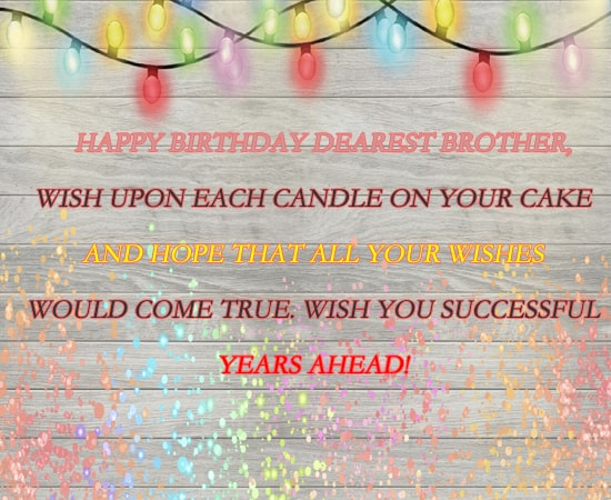 Free Birthday Wishes for Brother Download