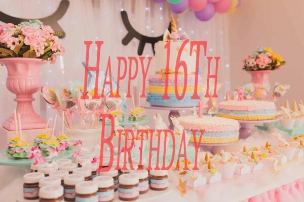 Happy 16Th Birthday Images