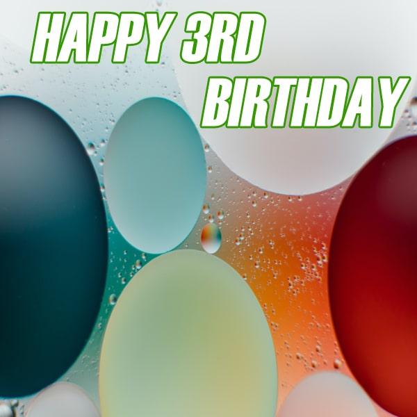 New Ballon Happy 3Rd Birthday Images