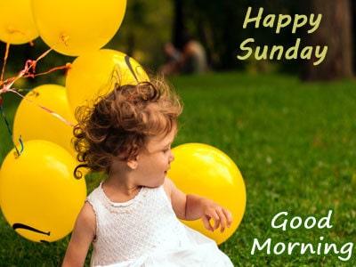 Beautiful Happy Sunday Good Morning Photo For Whatsapp