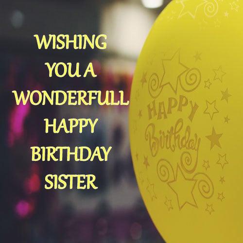 Happy Birthday Wallpaper Sister