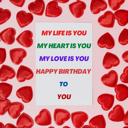 Love Romantic Happy Birthday Images