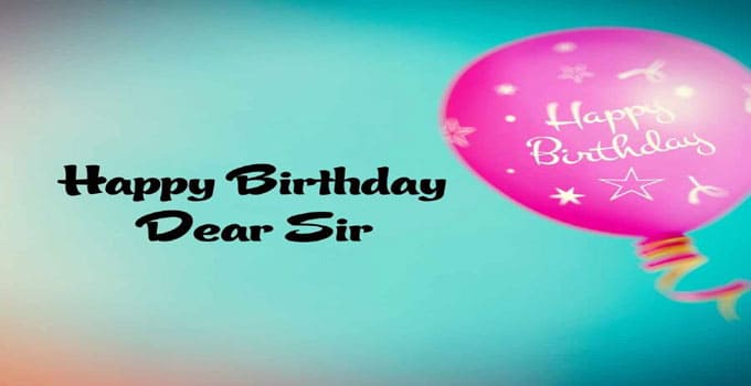 Happy Birthday Images sir