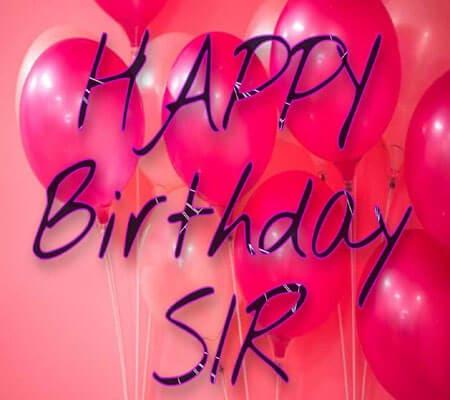 Happy Birthday Sir Photo