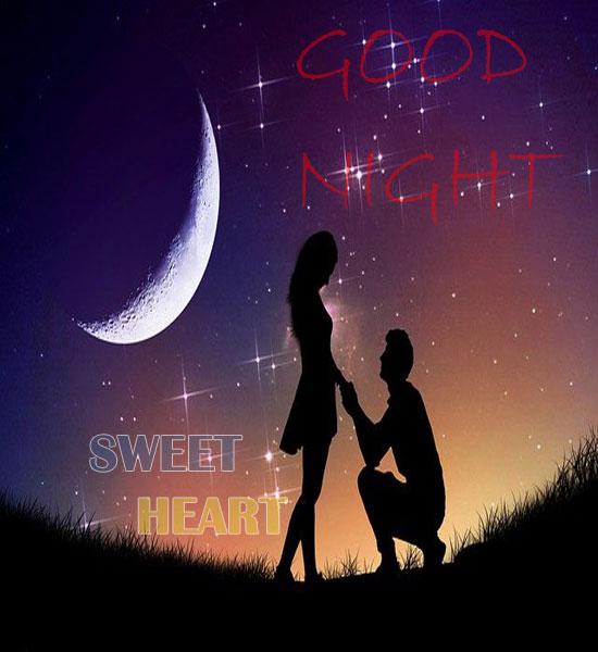 Good Night Sweetheart Wishes Wallpaper