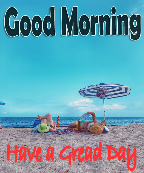beautiful beach good morning images